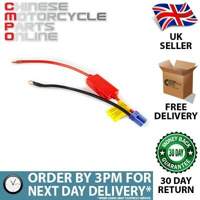 Lextek Portable Jump Starter Lead With Ring Terminals for Motorcycle JSBTTY003