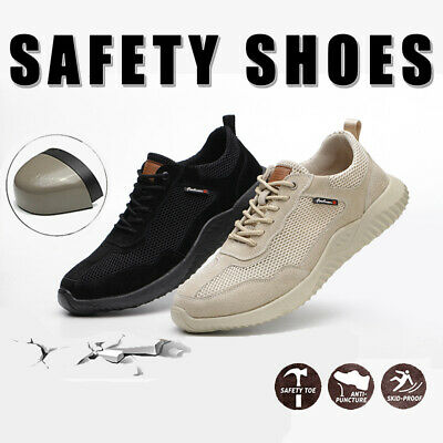 Safety Shoes for Men Women Steel Toe Trainers Lightweight Work Shoes Sports boot
