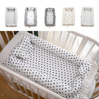 Cotton Baby Bassinet Crib Newborn Baby Cot Cribs Snuggle Bed Breathable Soft