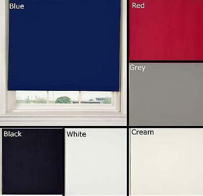 Blackout Roller Blinds Thermal & Ready Made Blind 6 Colours By Vivente Home