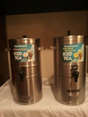 Lot Of 2 Bunn Tds 3 Tea Containers 3gallon