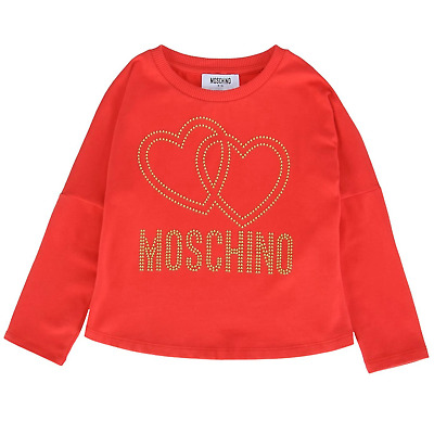 Moschino Girls Red Top with Hearts