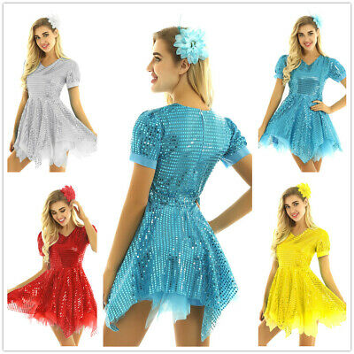 Women Girls Mesh Tulle Tutu Dress Contemporary Performance Dancewear Party Prom