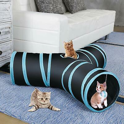 AroPaw Collapsible Cat Tunnel Tube Interactive Indoor Cats Peek Hole Kitten Toys