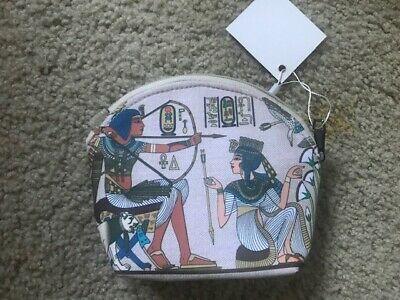 Brand New Coin Purse Ancient King Tut Cleopatra Egyptian Hieroglyphic Theme
