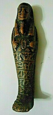 VERY NICE Ancient Ushabti, Lots of Glyphs & Cartouche Old Kingdom 1648-1455 BC