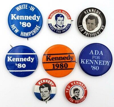 Ted Kennedy For President Button Collection (8)