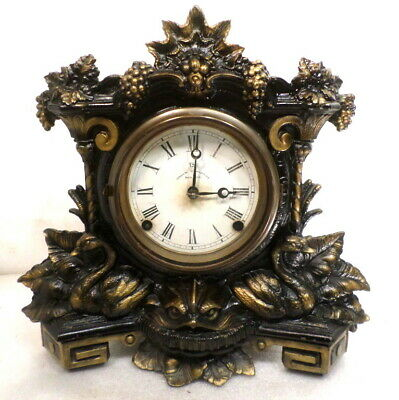 1870 8 Day Striking Cast Iron Front Mantle Clock--United States Clock Company