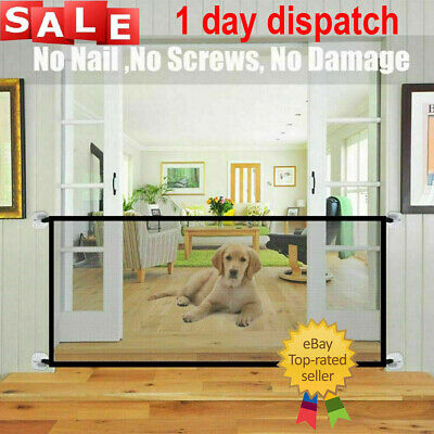 ✅Retractable Pet Dog Gate Safety Guard Folding Baby Toddler Stair Gate Isolation