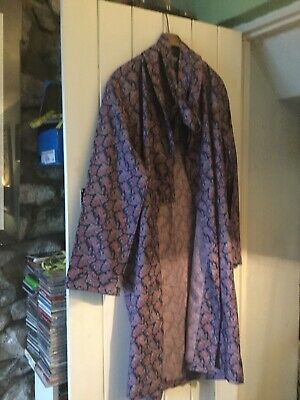 Vintage Tootal Paisley Pattern Dressing Gown Smoking Jacket Medium