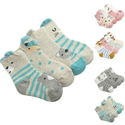 Baby Socks Boys Girls Autumn Winter Cute Warm Sock Soft Slipper Socks Bed Sock