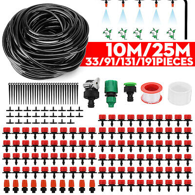 10M/25M DIY Water IRRIGATION Kit Micro Drip Watering Plant System Garden Hose