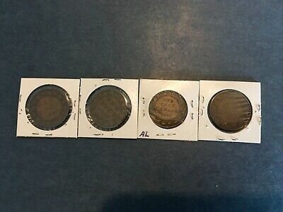 Lot of Four Canada 1 cent coin  1906,1910,1911, and 1916,