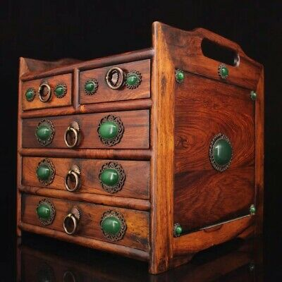 Chinese Old rosewood hand carved Build Tea cabinet
