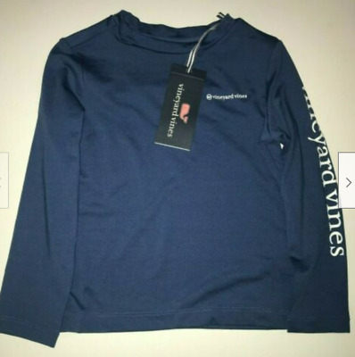 VINEYARD VINES Long Sleeve Youth Vented Performance Boating Tee Small