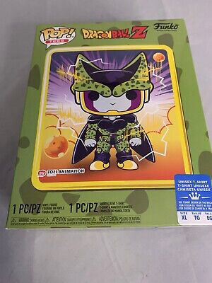 New Funko Pop & Tee Dragonball Z Perfect Cell Gamestop  T-Shirt XL X-Large
