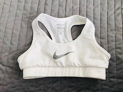 Girls Crispy White Nike Pro Dri  Fit Sports Bra age 8-10 Dance/Crop Top