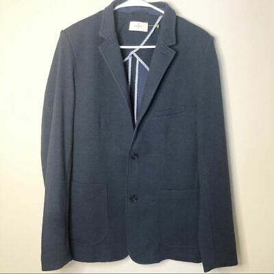Civil Society Men Navarro Navy Two-Button Knit Medium Blazer Jacket