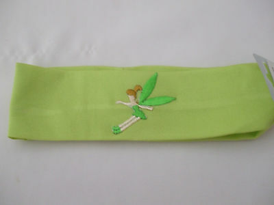 Young Girls Lime Green Stretchy Headband Fairy Motif  Embroidered On New