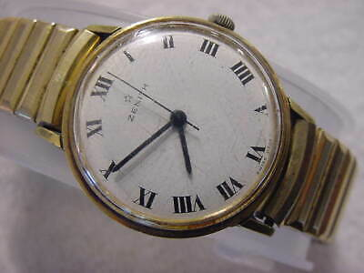 Vintage GOLD FD large antique Art Deco ZENITH mens watch