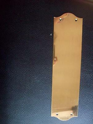 POLISHED SOLID BRASS FINGER PLATE 300 x 75mm x 1mm GAUGE
