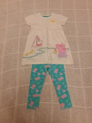 Mini Club Peppa Pig Top & Leggings outfit/set Age 2-3 Yrs Excellent condition