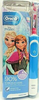 FROZEN  Oral-B Stages Power Electric Toothbrush for kids  PLUS 4 HANDLE STICKERS