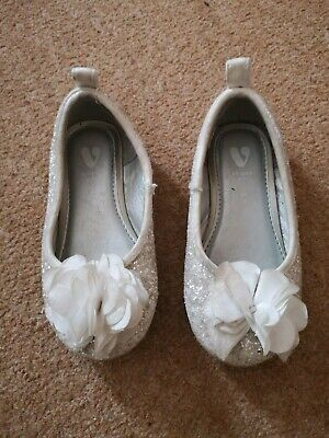 Girls Toddler Very Cream Sparkly Shoes Pumps Infant Size 7