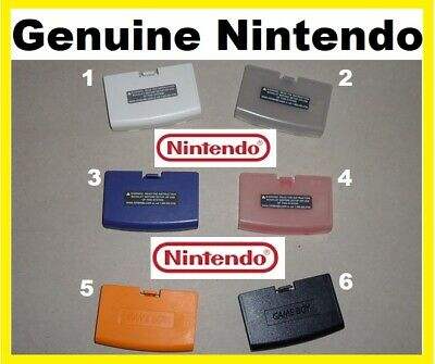OEM Official Nintendo Game Boy Advance GBA BATTERY COVER lid Genuine ~PICK COLOR