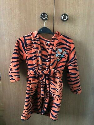 Disney Tigger Hooded Dressing Gown / Towel - 2-3 Years - Boys / Girls - Used
