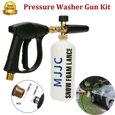 "1/4"" Pressure 1L MJJC Snow Foam Lance Bottle Gun Car Wash Jet Soap Spray Cannon"