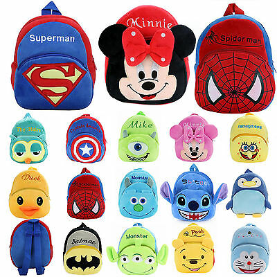 Toddler Kids Girls Boys 3D Cartoon Lovely Plush Soft Schoolbags Backpack Novelty