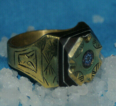 ONE OF A KIND Rare Ancient medieval Viking Military Bronze Ring Museum Quality