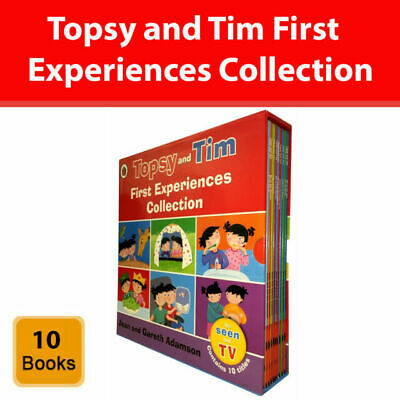 Boxed set: Topsy and Tim Stories 10 Books Set Collection Learn To Swim, Play