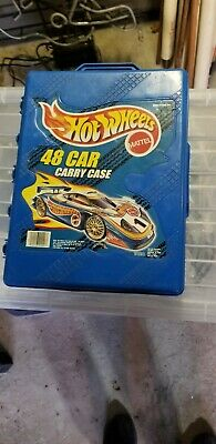 VINTAGE Mattel Hot Wheels - 48 Car Carry Collectors Case with 50 Hot Wheels