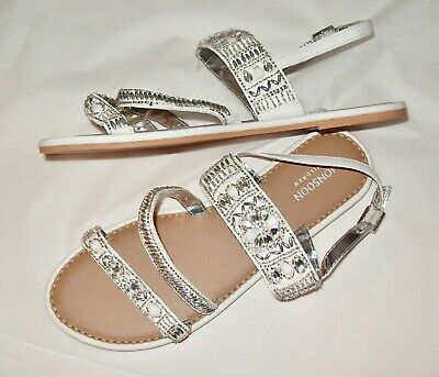 Brand New!!!   Monsoon Childrens Girls Embellished Sandals/Shoes.   Size 4