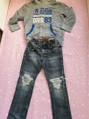 Boys Outfit, Next Ripped Jeans Age 4 And George Hoody 4-5 Years