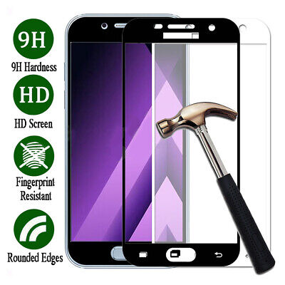 AM_ Full Cover Tempered Glass Screen Protector Film for Samsung Galaxy A3 A5 A7