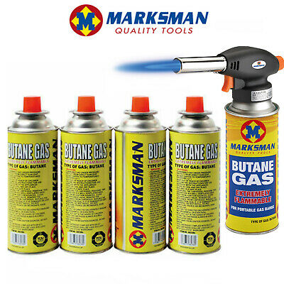 Milestone 4 Pack Butane Gas Camping BBQ And Stove Gas Canisters 220G