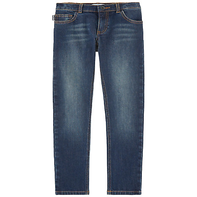 Moschino Boys Navy Blue Straight Fit Jeans