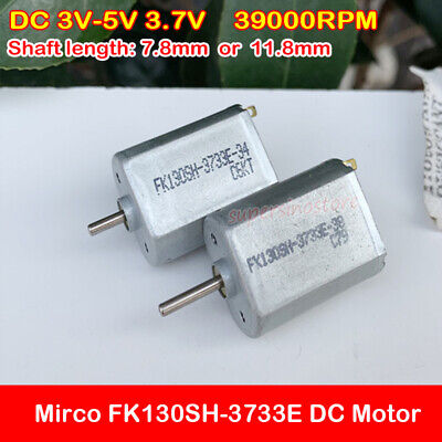 5pcs N20 DC3.7V 30000RPM High Speed Magnetic Alloy Aircraft Carbon Brush Motor