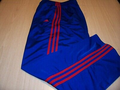 Adidas Blue W/Red Stripes Athletic Pants Mens Xl Excellent Condition