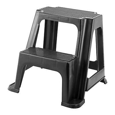 Heavy Duty Large Multi Purpose Plastic 2 Step Up Stool Home Kitchen Garage