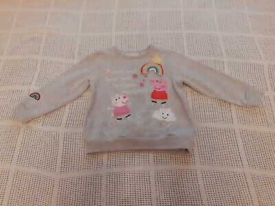 Next Girls Grey Peppa Pig Jumper Age 2-3 Years excellent condition