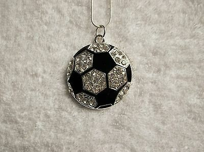 FOOTBALL Large Charm NECKLACE Unwanted Footy Fan Gift