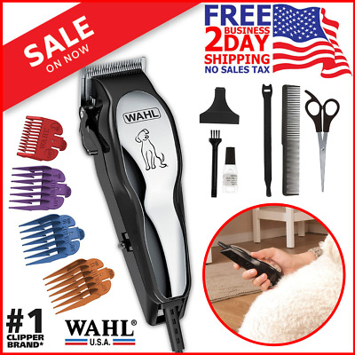 Pet Professional Thick Hair Set Heavy Duty Dog Grooming Clipper Kit New Wahl