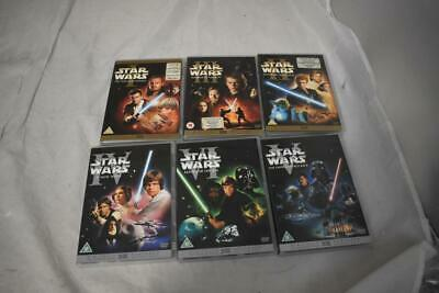 Collection of 6 Star Wars DVD's Including A New Hope and Attack of the Clones