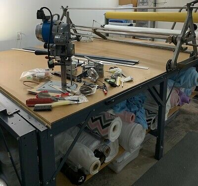 Apparel Sample Room for Sale, Cutting Table & Machine, Fabric Spreader and More