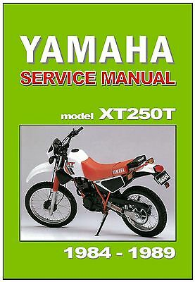 Yamaha Serow XT225 WorkShop Manual Years 1992 to 2000 on CD