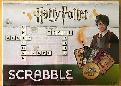 Scrabble Harry Potter Edition. Family Board Game. Age 10+. 2-4 Players.